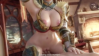 Hunter (MHW) Is Really Horny After Noontide Of Grinding - (Exga)