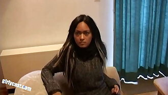 Skinny Girl Smya Participates In Cuckold Experiment
