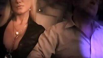 Sharon Pink lets strangers play under her boyfriend's eyes - Cuckold in Cinema