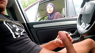 I pull out my cock on this highway area – face this Muslim!!
