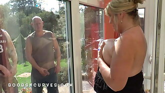 Mature and busty fucking gone from with the gardeners