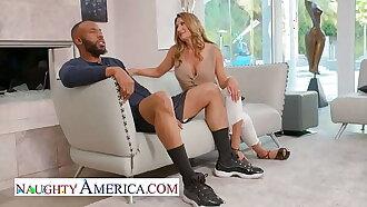 Naughty America - Hot Milf Sloan Rider takes a big black cock